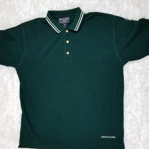 Men's Abercrombie & Fitch (Green) Polo Shirt (Med)